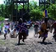 Vikingen tijdens Pinksteren