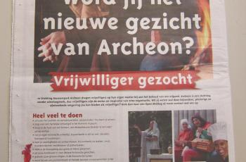 Archeon zoekt vrijwilligers!