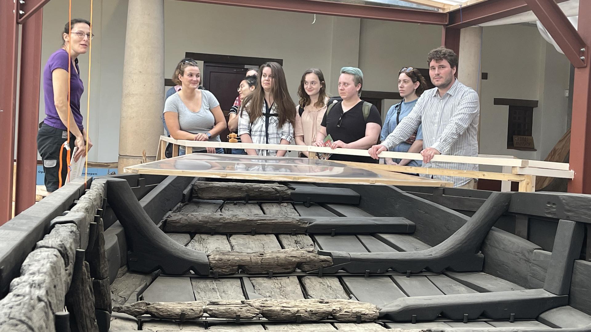 Universiteit van Berlijn bezoekt de Zwammerdamschepen