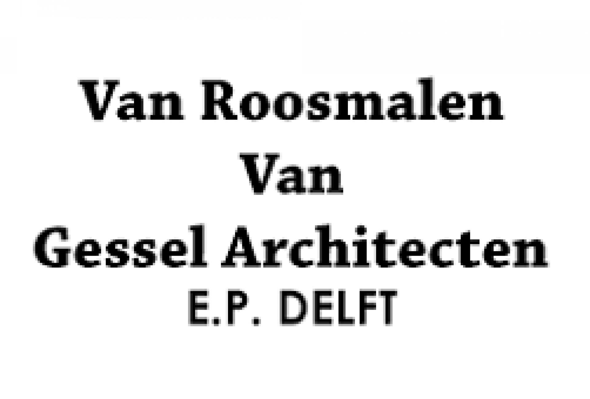 Logo Van Roosmalen van Gessel Architecten